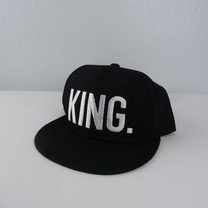 Baseball Cap Snapback  Black White Adjustable Hat